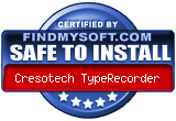 SAFE TO INSTALL certificate on FindMySoft.com