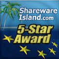 5/5 Stars on SharewareIsland.com