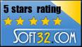 Rated 5/5 stars on Soft32.com